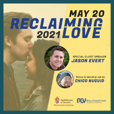 Picture Advertising Reclaiming Love Event